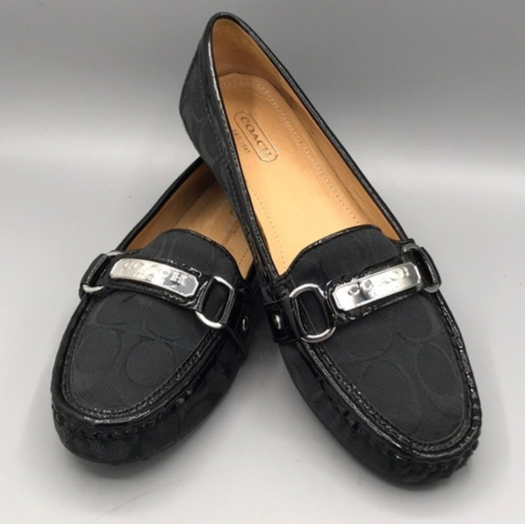 934fad07c30 Coach Shoes - ⬇  75 Coach Felisha Loafers Black on Black Size 6